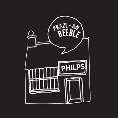drawing of Philps Pasties Shop in Praze-an-Beeble
