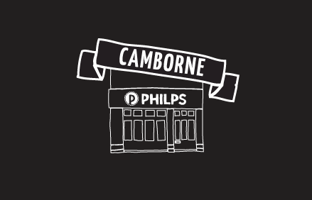 drawing of Philps Pasties Shop in Camborne